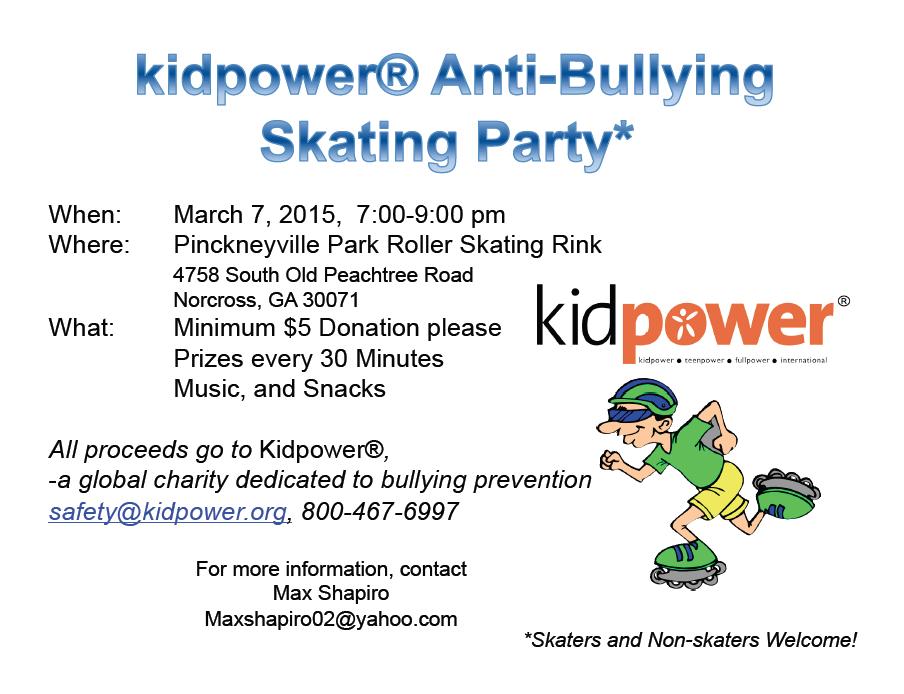 Kidpower Skate Party Flyer
