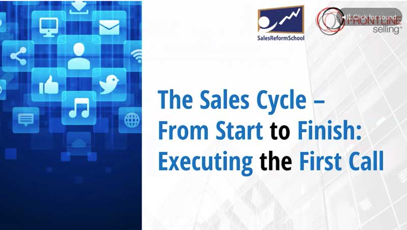 Webinar:  Executing the First Call